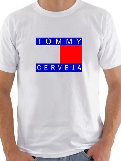 "CAMISETA ""TOMMY CERVEJA"" - BRANCA"