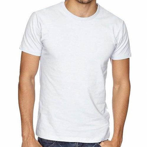 Camiseta 100% Algodão, Gola Careca - lisa