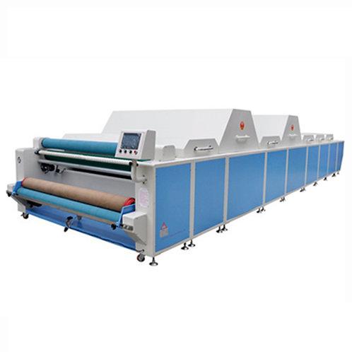 Máy xử lý co rút vải 2 buồng hơi to. 1 buồng mát, 4 buồng sấy 1 khoang trước sấy