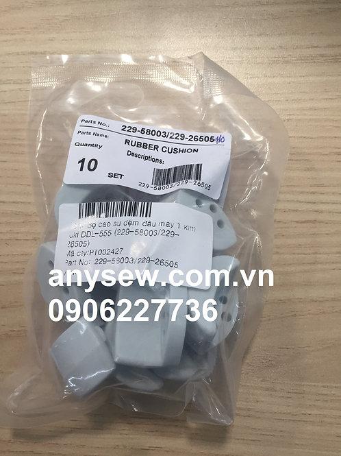 Bộ cao su đệm đầu máy 1 kim juki DDL-555 (229-58003/229-26505)