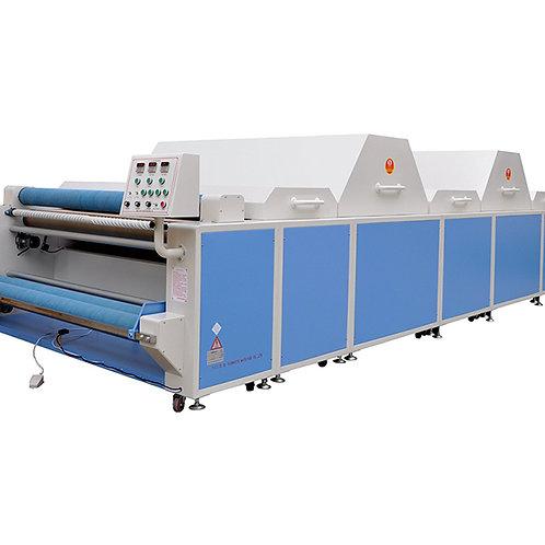 Máy xử lý co rút vải  1 buồng hơi to, 1 buồng mát, 2 buồng sấy