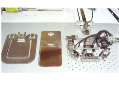 Bộ khuôn túi + chương trình lắp cho máy may túi áo sơ mi tự động YUHO U-3204-E