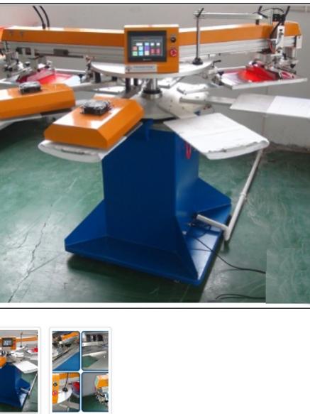 Máy in oval tự động, 1 màu, 6 bàn KT khung in 120X220mm