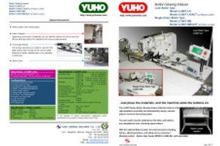 Máy đính cúc hoàn toàn tự động YUHO tích hợp robot U-2607-MB/AUT ( Nhật bản)