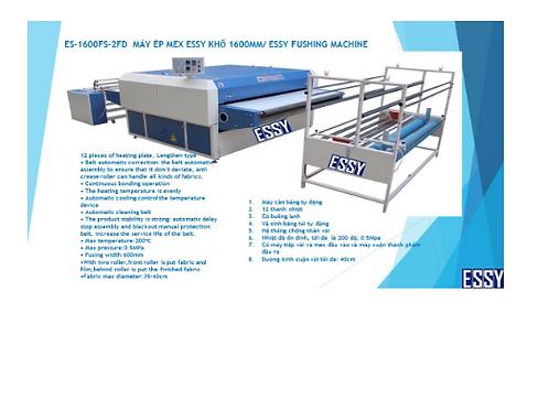 Bộ máy ép mex ESSY ES-1600FS-2FD, khổ rộng 1600mm, có hệ thống đưa vải vào và cu