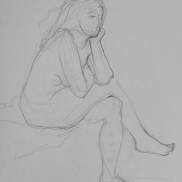 Akt, Bleistiftzeichnung