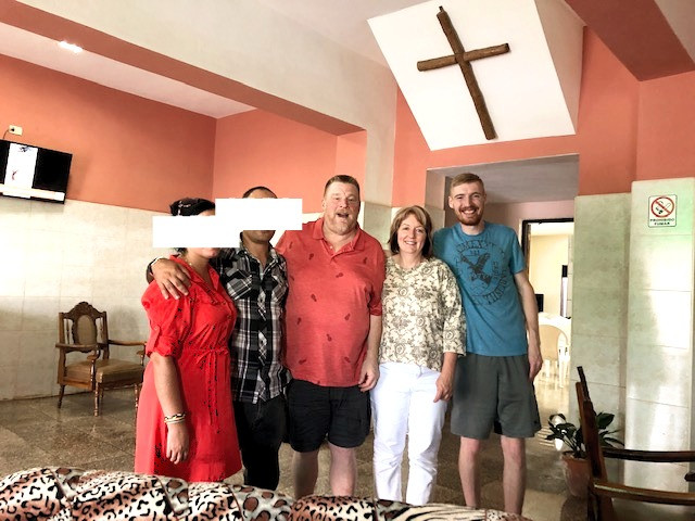 Snow family with Cuban pastors
