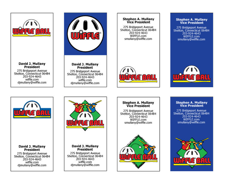 WIFFLE BALL Business Cards