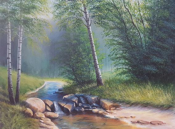River flow by Ewa Kaszubska