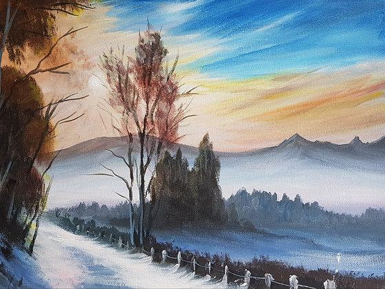 Icy Road by Mita Visrolia