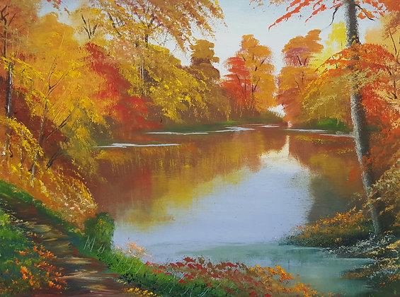 Golden Reflection by Richard Warrington