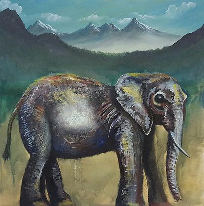 Little elephant by Neil Freeston