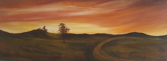 Sunset over field by Mita Visrolia