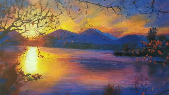 Golden Autumn Sunset by Lorna Hicks