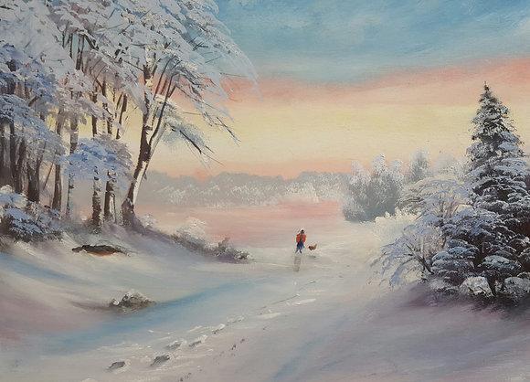 Morning walk by Richard Warrington
