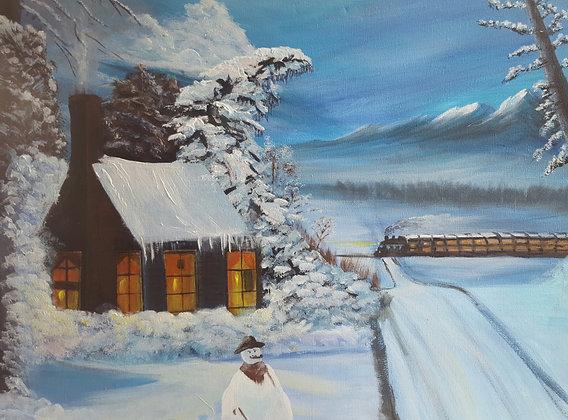 Snowman by Kanji Daudia
