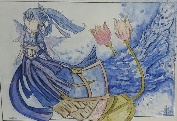 The Water Fairy by A.J Van-Rixtel