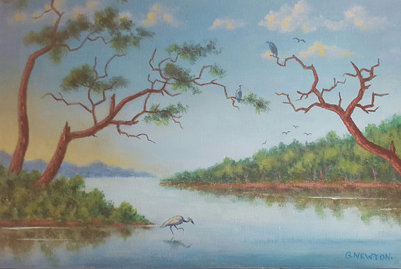 River Scene by Gordon Newton