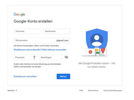 Wie erstelle ich ein Google Konto?