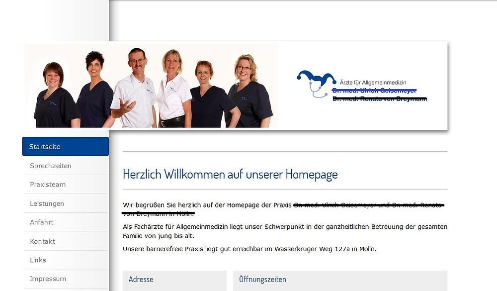 """Statt """"Herzlich willkommen"""" sollte besser stehen """"Praxis für Allgemeinmedizin"""""""
