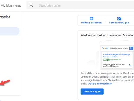 Google My Business Nutzer hinzufügen