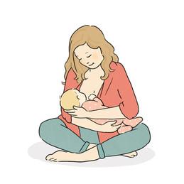 En collaboration avec une sage femme. Série sur la famille illustrant son site internet.