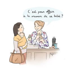 """Extrait de la série illustrée """"Maman (trop) jeune pour la société"""""""