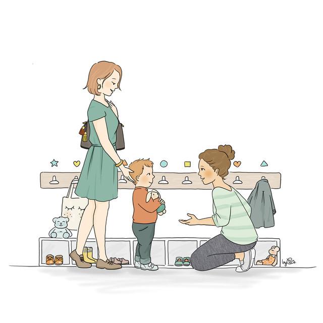 Illustration pour la plaquette d'un multi-accueil