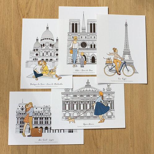 """Cartes """"Paris, je t'aime"""""""