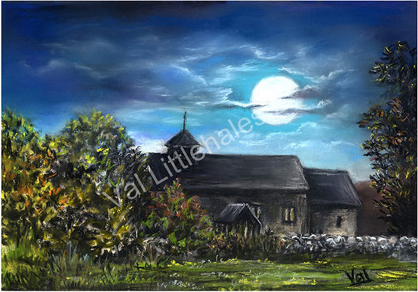 Val Littlehales Limited Edition Myndtown Church Art Print (2)