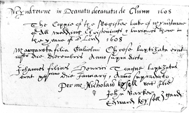 Myndtown's earliest transcript