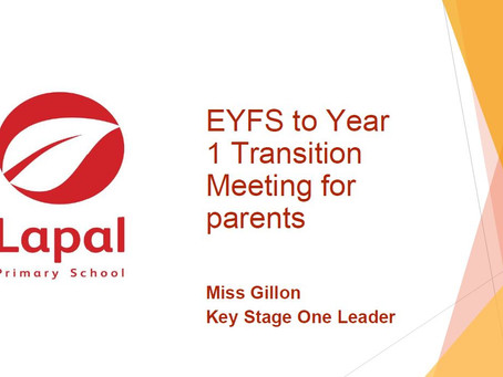 Transition from EYFS to Year 1