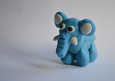 elephant_plasticine_model_animal_backgro