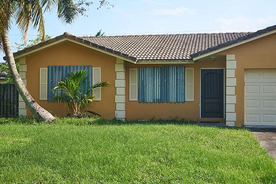 Hurricane Shutters on a Florida house. S