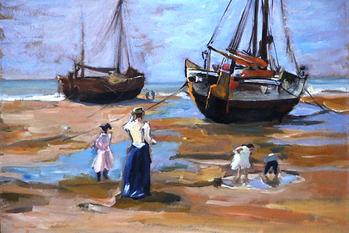 Boats and People - Impressionist