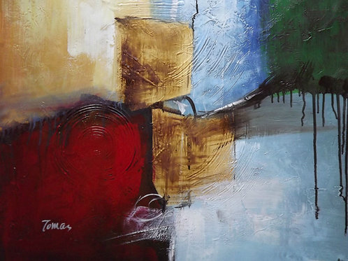 Beautiful, signed Abstract oil on canvas