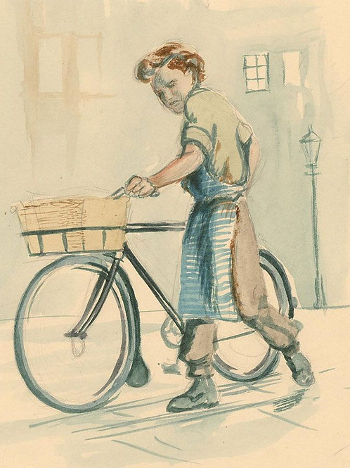 Three 20th Century Watercolours by Comic Cartoonist John Armstrong