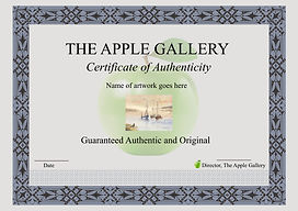 Certificate of Authenticity - The Apple Gallery