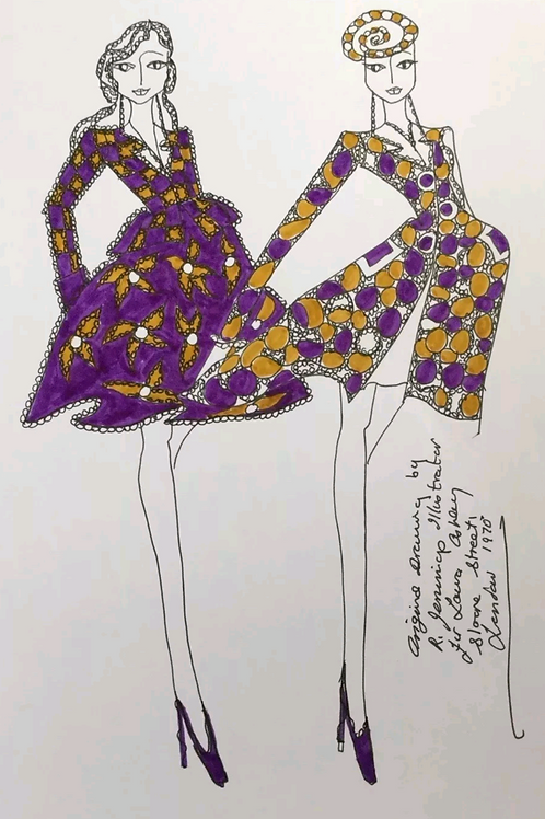Fashion Drawing by Laura Ashley Illustrator Roz Jennings