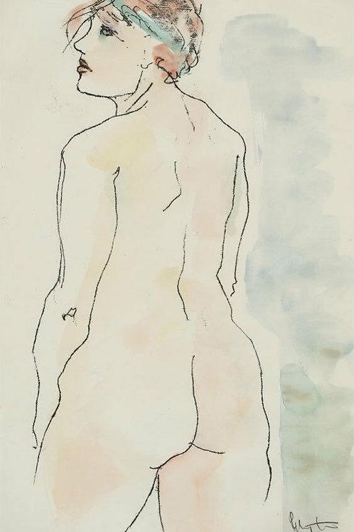 Inge Clayton FRSA (1942-2010) - 1985, Standing Female Nude