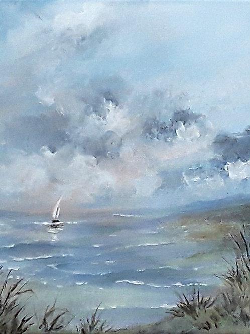 Seascape, Acrylic impressionist