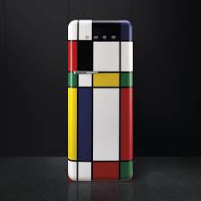 The 'Mondrian' Smeg fridge was one of the first iconic fridge designs