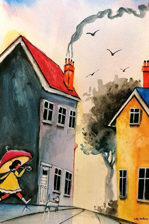 Original Watercolour by James Ndokera