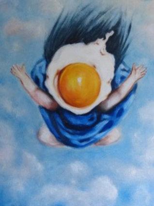Egg Girl Flying High