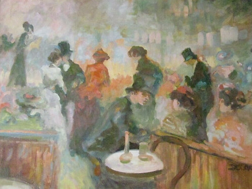 Super French Impressionist Style Oil Painting