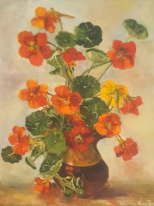 'Nasturtium' Oil Painting by Gay Pierce