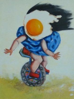 Egg Girl on Unicycle