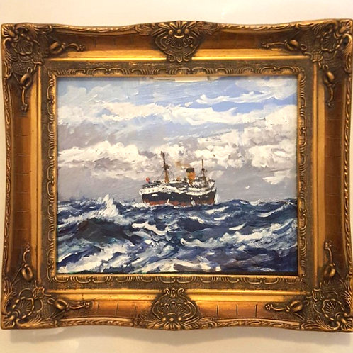 H.G. Moore - Mid 20th Century Oil, At Sea