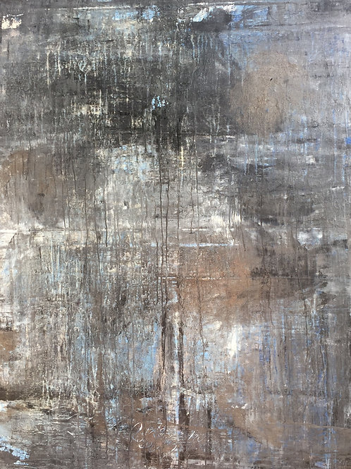 1155 abstract antique series blue/platinum