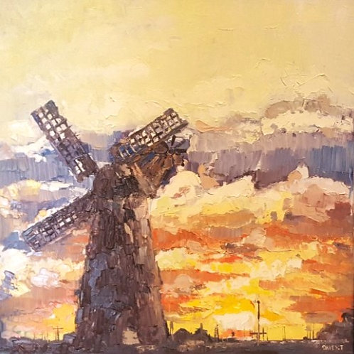 'Windmill' Original Oil Painting by Tom Davey